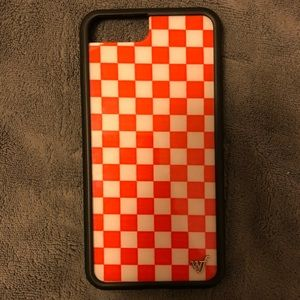 Red Checkers Wildflower iPhone 7/8 Plus Case